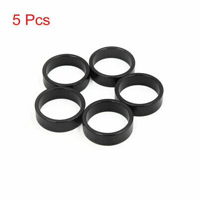 5Pcs Black Aluminum Alloy MTB Bike Bicycle Spacer Fork Stem Washer 28.6 x 10mm