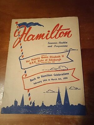 Hamilton, Victoria Souvenir Booklet/programme Visit Of Royal Tour 1954.