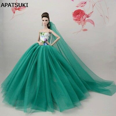 "Chinese Flower Doll Dress For 11.5"" Doll Clothes Evening Dress Doll Accessories"