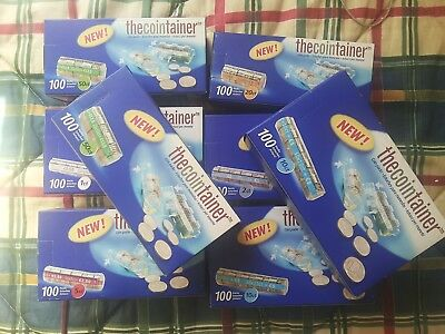 Lote 8 Cajas De 100 Blisters Portamonedas Thecointainer Variados (800 Blisters).