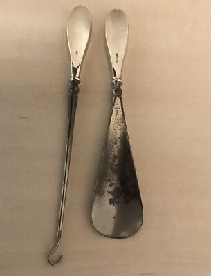 Silver Button Hook And Shoe Horn