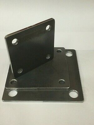 Laser Cut Fixing Plate Square (100mm, 125mm & 150mm) in 5mm Thick Mild Steel