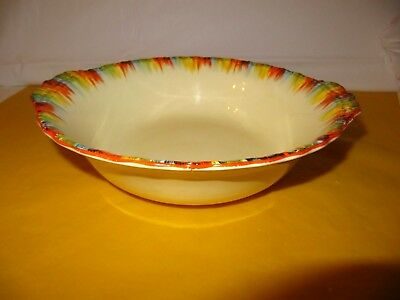 "ART DECO GRINDLEY CHAMELEON Large Bowl with handles dia 8.5"",~Scratches&marks ~"