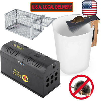 Electronic Mouse Trap Control Rat Killer Pest Electric Zapper Rodent Garden Tool