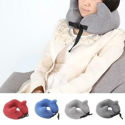 Memory Foam U Shaped Travel Pillow Support Neck Head Rest Cushion Storage Bag