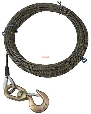 Steel Core Winch Cable with Alloy Swivel Hook