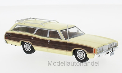 Ford LTD Country Squire 1972 hellgelb/Holzoptik  - 1:43 Whitebox  *NEW*