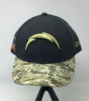 best service c39f4 6dac7 New Era Los Angeles Chargers Camo Salute to Service On-Field Fitted Hat Sz 7