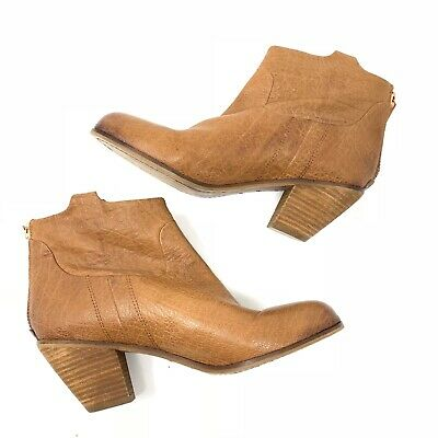 d90ed87cf3ed51 SAM EDELMAN PETTY Lisle Ankle Boots Bootie Brown Saddle Leather Size ...