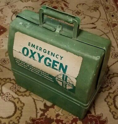 Antique Medical Emergency Oxygen Kit Unused Motion Sickness Breath-O-Life
