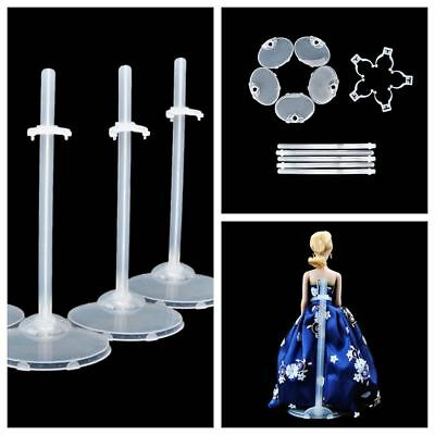 5 Pcs Plastic Doll Stand Display Holder Accessories  For Dolls Nice B0IT