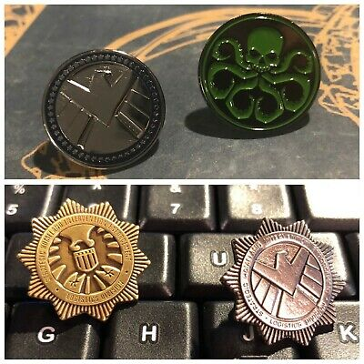 • Shield • Classic / Modern Agent Lapel Pins • Avengers Endgame Cosplay Prop •