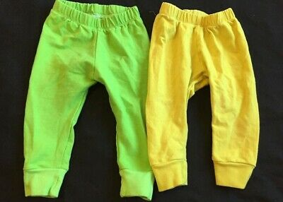 Bold Bright Neon Yellow And Green Handmade Leggings 6-9 Months Instagram Shop