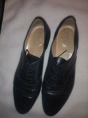 c5b8f54651c J Crew Black Leather Oxford Cap Toe Brogue Shoes Made in Italy Womens Size  10