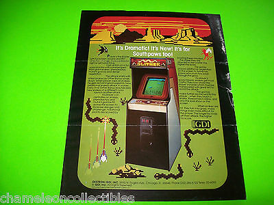 Arcade, Jukeboxes & Pinball Collectibles 1982 Gdi Slither Video Flyer Latest Fashion