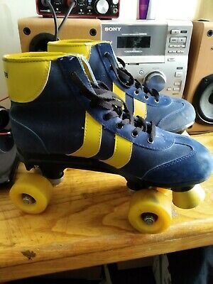 Blazer Quad Roller Blades Size 7 UK Blue & Yellow Used