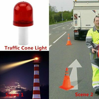 Bright LED Road Hazard Block Lamp Flashing Safety Traffic Cone Warning Light NEW