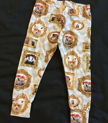 Baby Girls Framed Animals Leggings Handmade Instagram Shop 12-18 Months Fox Badg
