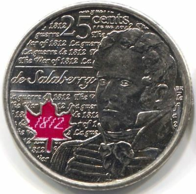 2013 CANADA 25 CENTS Coin - War of 1812 Lieutenant Colonel Salaberry