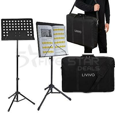Music Sheet Stand Heavy Duty Foldable Orchestral Holder With Carrying Bag