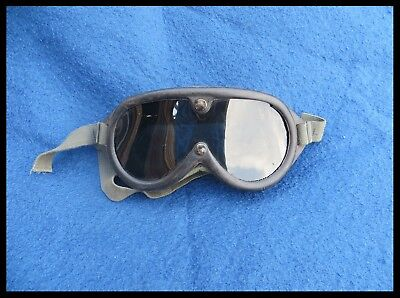 Nice Vintage MILITARY Goggles - Tinted Lens - USEFUL Sun, Wind, Dust Protection!