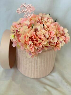 Hat Box Silk Flower Box Bouquet Artificial Hydrangea Gift Hospital Flowers