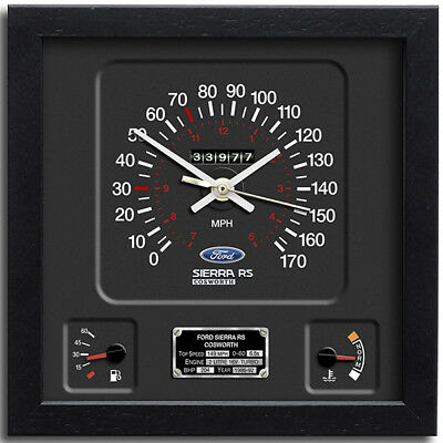 Classic Car Speedometer Wall Clock - Ford Sierra RS Cosworth