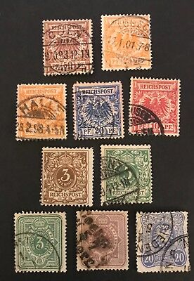 Germany postage stamps lot of 10 old            No