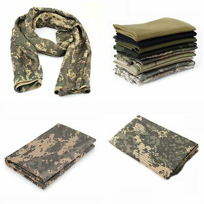 Military Tactical Scarf Hunting Camouflage Scarf Windproof Army Wrap Scarf KU