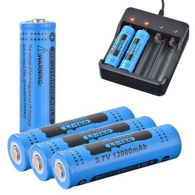 4pcs Véritable GTL 18650 Batterie 3.7V Rechargeable Li-ion 12000mAh RC994