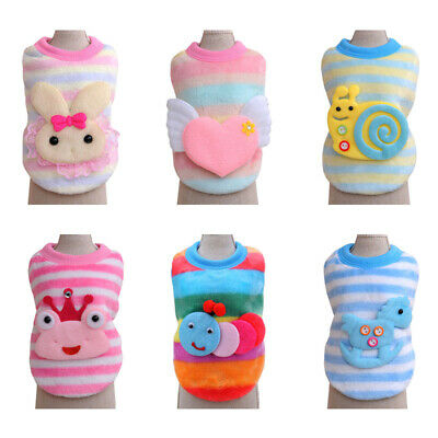 XXXS Cat Dog Clothes Warm Sweater Coat Apparel Tiny Pet Animal Puppy Shirt XXS