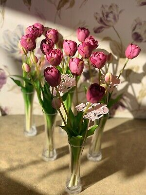 Artificial Silk Flower Tulips Vase False Flowers Home Decoration Gift Lilac
