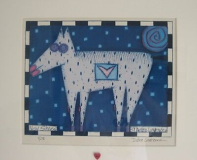 "Framed Lithograph Print  ""New Shoes"" Horse Signed & Numbered By Debra Lawrence"