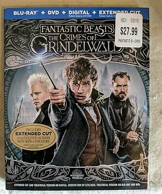 Blu-Ray Disc: Fantastic Beasts The Crimes Of Grindelwald (DVD + Digital)