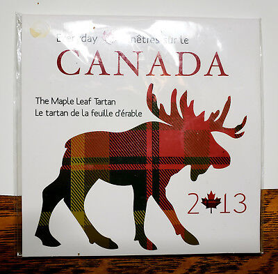 2013 50 Cent Canada Maple Leaf Tartan Coin With Cloth Swatch Sealed Mint