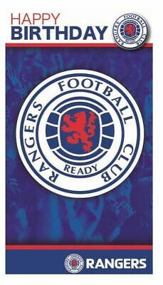 Official RANGERS FC Football Happy Birthday Card with BADGE Greetings Club Team