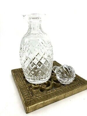 """Cut Czech Crystal Decanter With Round Stopper Beautiful 10"""""""
