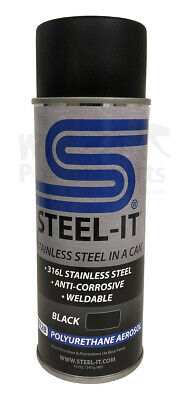 Steel-it Black Stainless Steel pigmented Paint - Polyurethane - 14oz Spray Can