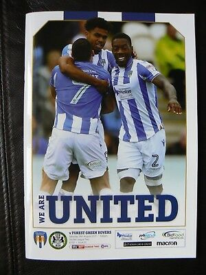 Colchester United - Forest Green Rovers Football Programme 2017