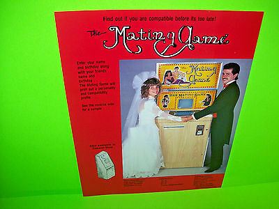 Betson The MATING GAME 1986 Original NOS Video Arcade Game Promo Sales Flyer Adv