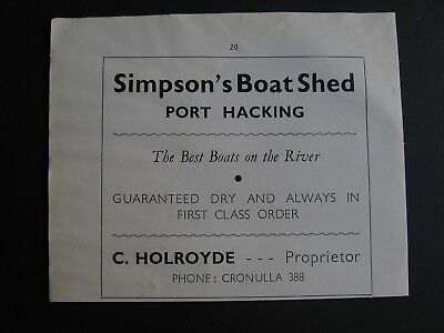 Simpson's Boat Shed. Port Hacking,NSW . C Holroyde.
