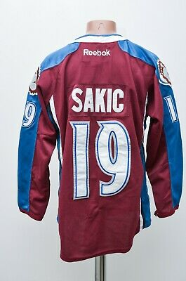 NHL COLORADO AVALACHE 2000's ICE HOCKEY  SHIRT JERSEY CCM # 19 SAKIC SIZE 48
