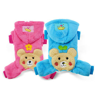 Chihuahua Pet Dog Jumpsuit Clothes Warm Yorkie Coat Winter Apparel for Girl Boy