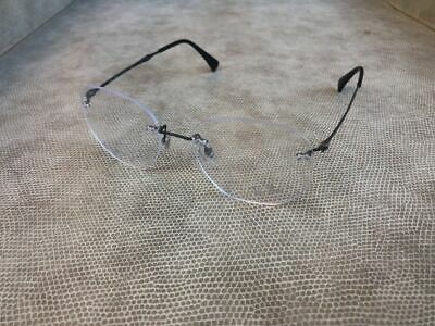 5be868d4a RAY BAN 8754 1128 Light Ray Gunmetal Black Rimless Brille Eyeglasses ...