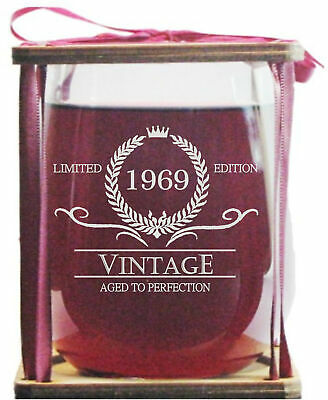 Vintage 1969 Limited Edition - Aged To Perfection Stemless Wine Glass