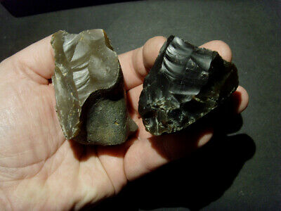 Upper paleo/ Mesolithic - Two early bladelet cores - Rare UK C.12- 8,000 BP