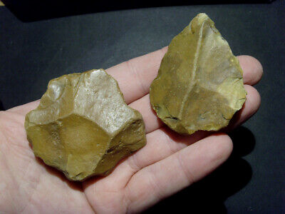 Lower Palaeolithic -  Two fine acheulean tools incl point. - UK C.350,000+ BP