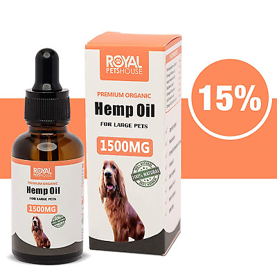 RoyalPetsHouse 15% Hemp oil for large Dogs & Pets 1500MG 30ml Separation...