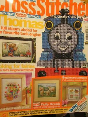 Cross Stitcher UK Magazine #120-April 2002-Thomas/Lambs/Teddy Looking For Fairie