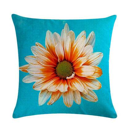 Flowers Printed Cushion Cover Pillow Case Living Room Bedroom Home Decor shan